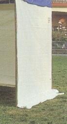 Telo laterale fisso con occhielli per gazebo di metri 5