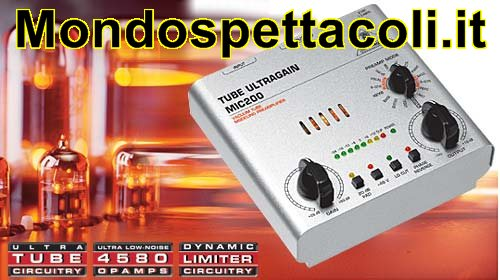 BEHRINGER TUBE ULTRAGAIN MIC200 - preamplificatore microfonico