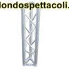 T25 - Traliccio in alluminio sezione triangolare da 25 cm L 10cm