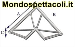 P40L - Angolo sezione piana da 40cm 60 ° a 2 vie orizzontale