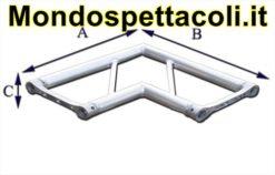 P40L - Angolo sezione piana con lato 40 cm