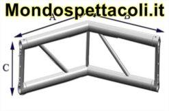 P25L - Angolo sezione piana con lato 25 cm
