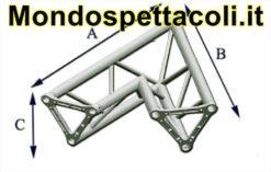 TRE40L - Angolo sezione Triangolare con lato 40 cm