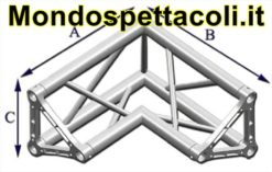 TRE25L - Angolo sezione Triangolare con lato 25 cm vertice inter