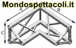 TRE30L - Angolo sezione Triangolare con lato 29 cm