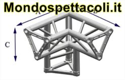TRE25L - Angolo sezione Triangolare con lato 25 cm