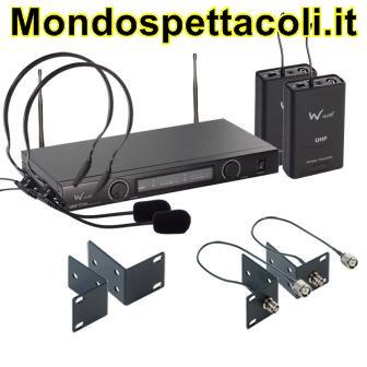 W Audio TPT-202 Twin UHF Headset Mic System