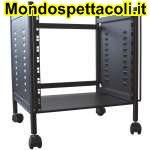 RACKB10R Modulo rack 10 unita' con ruote