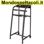RACKM208 Mobile rack 20 unita' con porta mixer 8U rack superiore