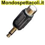 AD25 Adattatore da spina jack Ø 3,5 mm. mono a presa RCA.