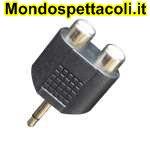 AD155 Adattatore da spina jack Ø 3,5 mm. mono a due prese RCA.
