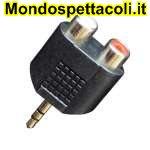 AD160 Adattatore da spina jack Ø 3,5 mm. stereo a due prese RCA.