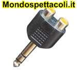 AD170 Adattatore da spina jack Ø 6,3 mm. stereo a due prese RCA