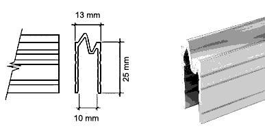 Bocca di lupo 10mm profilo AL1371 lunghezza 2 metri