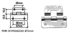 Cerniera sganciabile grande CR3502
