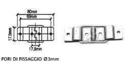 Cerniera piccola con reggicoperchio CR4502