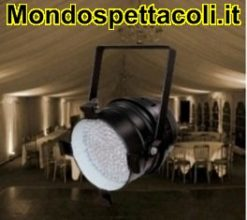 FARO PAR 64 A LED BIANCHI 3800K nero