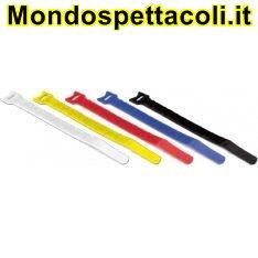 Fascette serracavi professionali in velcro mm 15x300