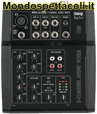 MMX-512USB Mixer audio a 3 canali