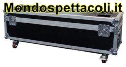 Flight case per aste microfoniche e meccanica batterie