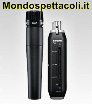 Shure SM57 con adattatore X2U USB