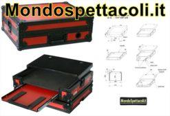 Flight Case Rosso per Controller DJ Midi PD-FC2