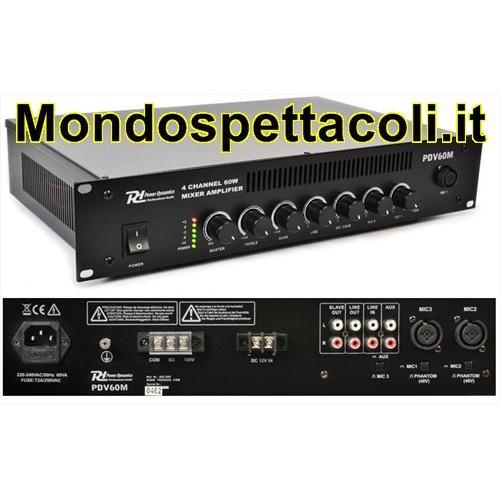 PDV60M 60W/100V - Mixer Amplificato a 4 canali