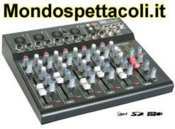 Mixer audio a 6 canali con effetto e porta USB e SD