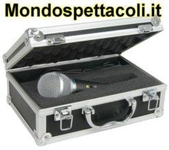 Microfono dinamico con custodia flightcase a valigetta