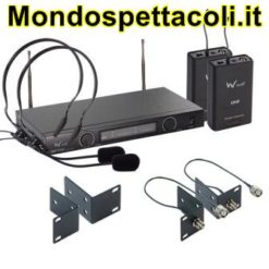 W Audio TPT-202 Twin UHF Headset Mic System