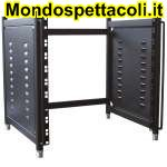 RACKB10 Modulo rack 10 unita' per installazioni in studi di reg.