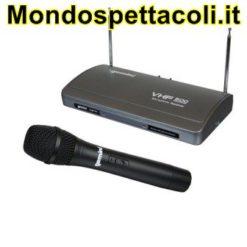 VHF 500 M/2 RADIOMICROFONO VHF CON RICEVITORE A DOPPIA ANTENNA -