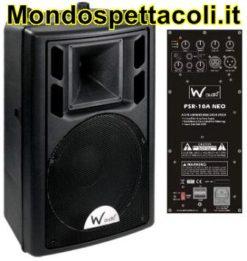 W Audio PSR 10A neodimio con 2 ingressi mic e 1 line