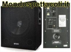 Skytec subwoofer amplificato 1000 watt 18 pollici