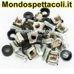 Kit Montaggio Rack 36 pezzi Dadi Bulloni e Rondelle PD-FR1