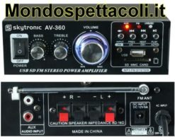 Sintoamplificatore con USB MP3 SD Card e Tuner FM
