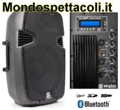Cassa Amplificata da 600 watt con Bluetooth ingresso USB SD MP3