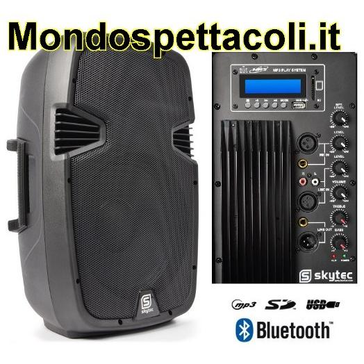 Cassa Amplificata da 600 watt con Bluetooth ingresso USB SD MP3