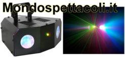Effetto luce a Led doppio Double Moon + laser