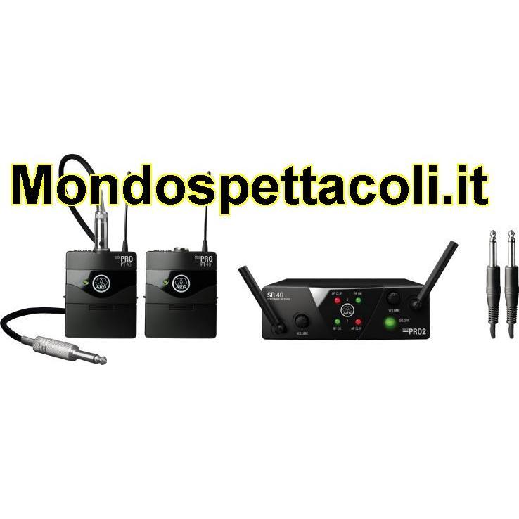 AKG WMS 40 MINI Dual Instrumental Set - 2 microfoni strumenti