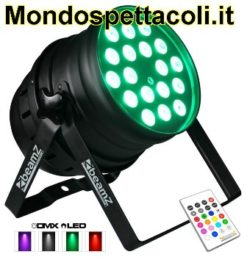 LED PAR 64 - faro con 18 led da 10watt Quad IR DMX