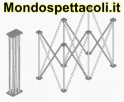 Struttura di supporto modulare in alluminio 200x100 altezza 20cm