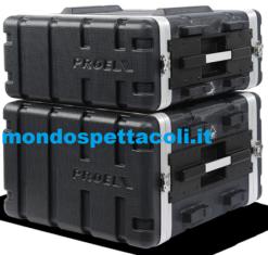 Flight case rack in ABS Proel Force 4 unità