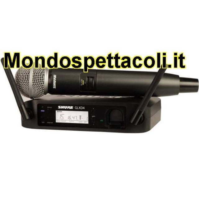 SHURE GLXD24E/SM58 - radiomicrofono wireless digitale per voce