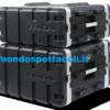 Flight case rack in ABS Proel Force 2 unità