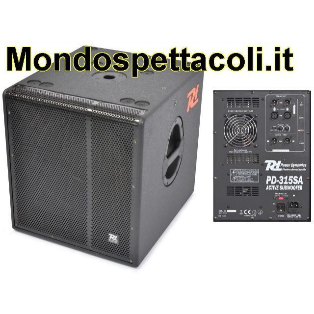 Subwoofer amplificato 1600 watt da 15 su ingrosso audio e luci salerno - Subwoofer attivo casa ...