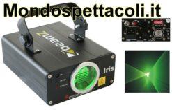 Effetto Luce LASER Verde Iris 50 mW con DMX