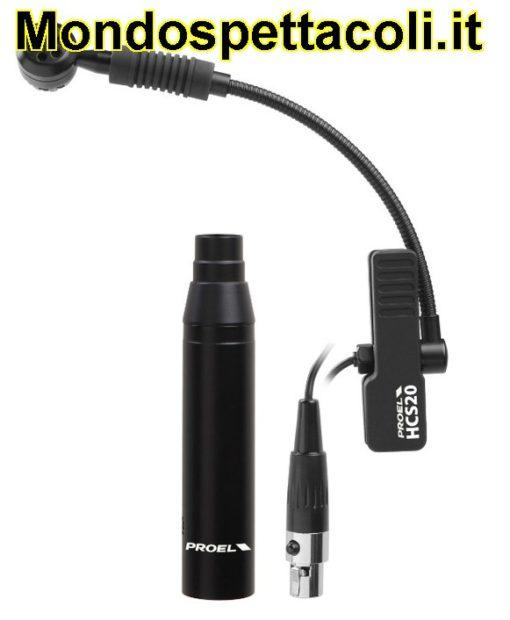 Microfono a pinza professionale per strumenti a fiato HCS20