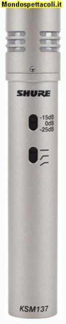 Shure KSM 137 SL - microfono a diaframma piccolo