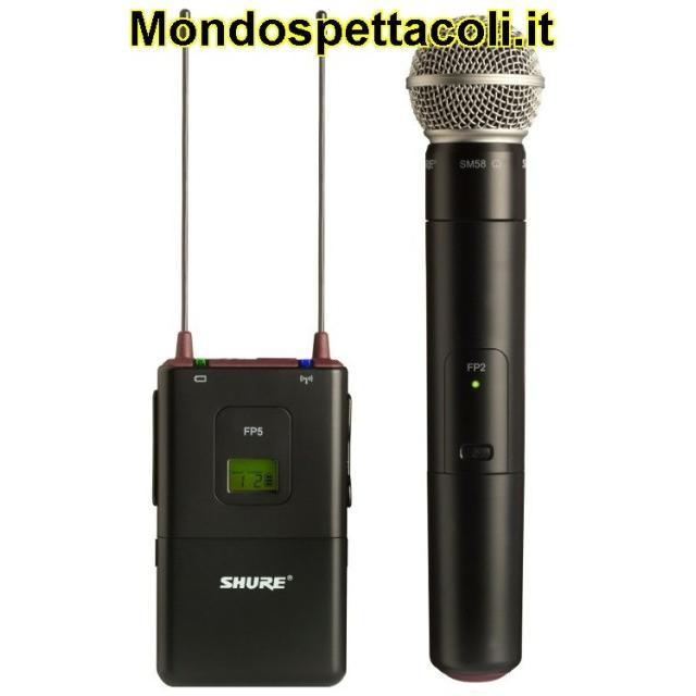 SHURE FP25/SM58 - radiomicrofono con ricevitore per telecamera